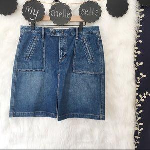 GAP Zippered Pocket Denim Skirt-B22